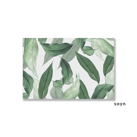Tranh Botanical, Tropical, Green leaves, Pattern S0235