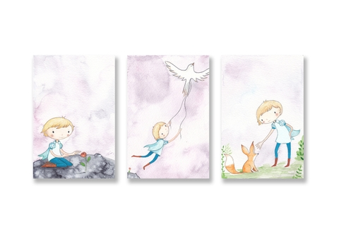 Tranh The little prince watercolor SE191