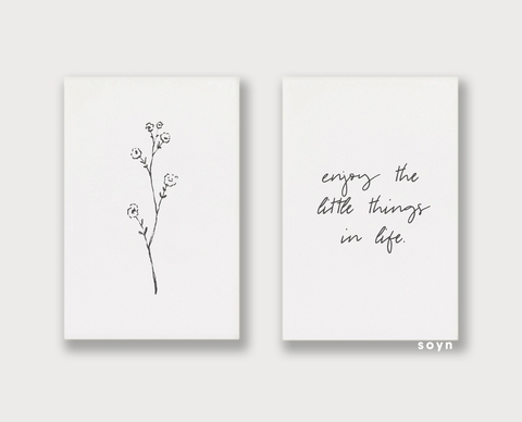 Bộ tranh Flower, Enjoy the litte things, Minimalism SE201