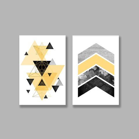 Bộ tranh Geometric, Abstract, Yellow SE221