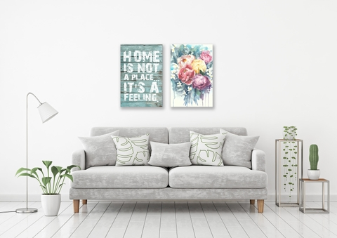 Bộ tranh Home is not a place, Peony Flower 40x60cm