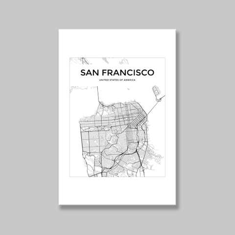Tranh San Francisco map