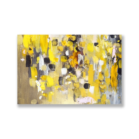 Tranh Abstract Yellow painting SU0154