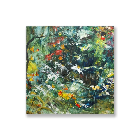 Tranh Abstract flower painting, colorful SU0155