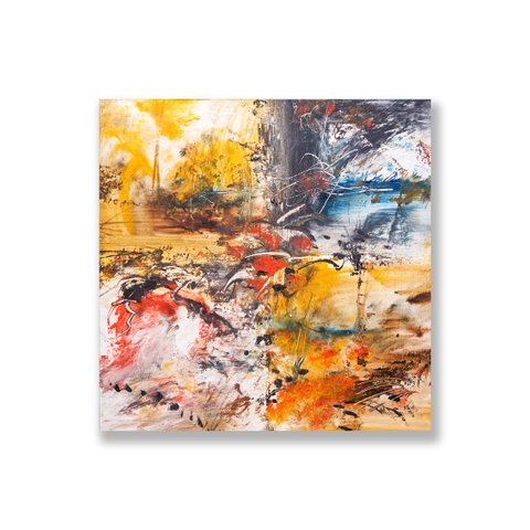 Tranh Abstract landscape, colorful painting SU0156