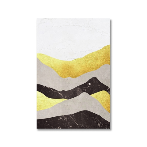 Tranh canvas Abstract Landscape, Mountain, Gold SU0161