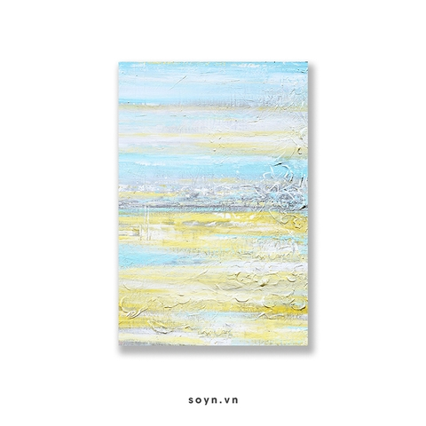 Tranh Abstract, Yellow, Blue, Turquoise, SU0170