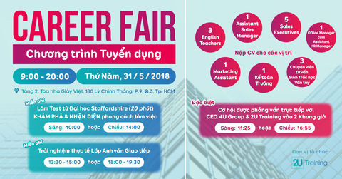Career Fair cùng 2U Training