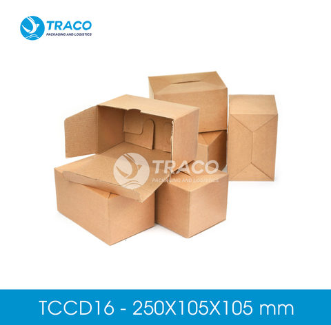 Combo 1000 Hộp carton TRACOBOX TCCD16 - 250X105X105 mm
