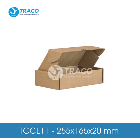 Combo 1000 Hộp carton TRACOBOX TCCL11 - 255x165x20 mm
