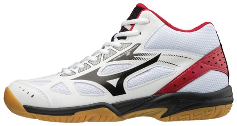 Giay mizuno CS2 MID BADMINTON SHOES WHITE-BLACK-RED