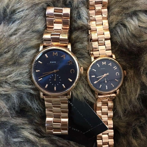 Marc Jacobs nữ Navy Rose Gold-tone