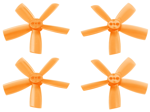 2035 5 Blade Transparent Propeller (2CW+2CCW; 1.5mm Shaft) (Orange)