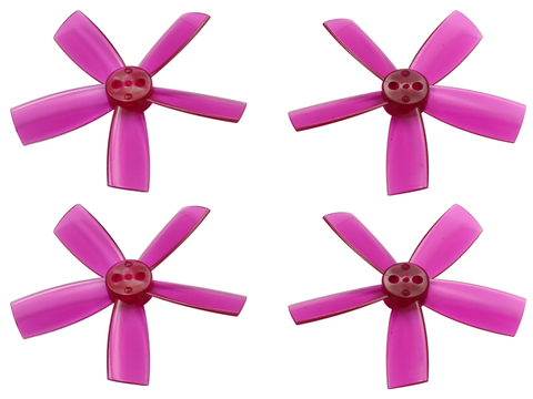 2035 5 Blade Transparent Propeller (2CW+2CCW; 1.5mm Shaft) (Purple)