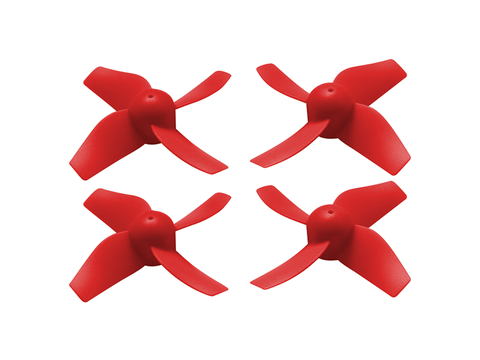 31mm 4 Blade Propeller (2CW+2CCW; 0.8mm Shaft) (Red)