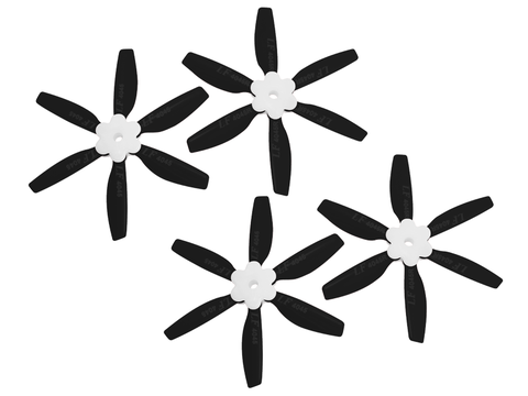 4045 6 Blades Folding Propeller (2CW+2CCW) (Black)
