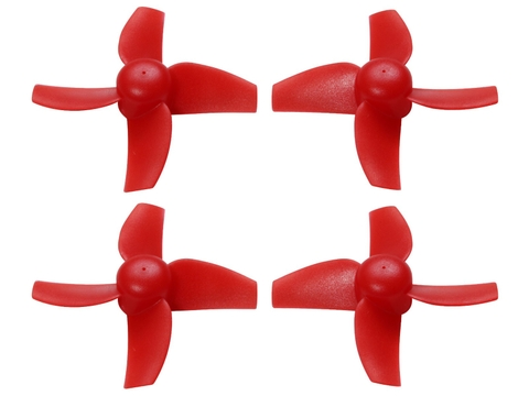 40mm 4 Blade Propeller (2CW+2CCW; 1.0mm Shaft) (Red)