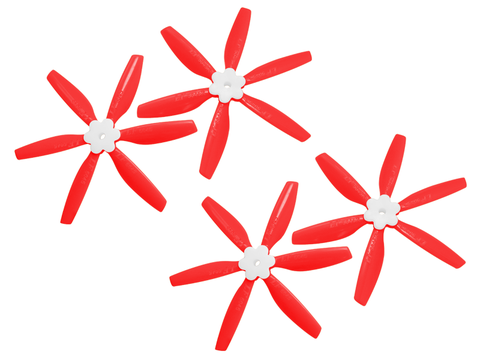 5045 6 Blades Folding Propeller (2CW+2CCW) (Red)