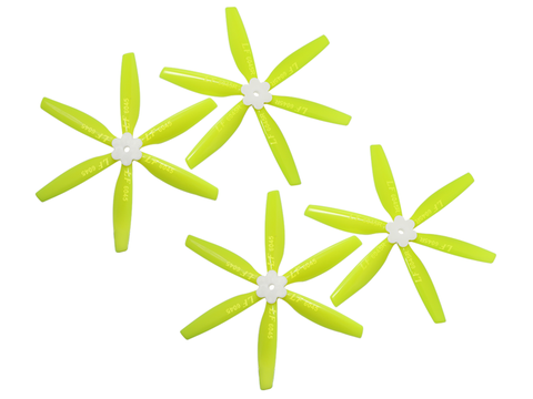 6045 6 Blades Folding Propeller (2CW+2CCW) (Yellow)