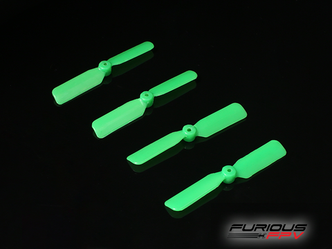 Furious FPV 45mm 2-Blade Propeller (4cw + 4ccw) - Green