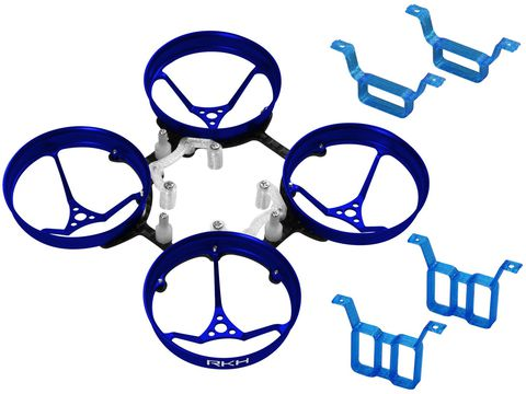 Rakonheli 1S, 2S AL Carbon 66mm Brushless Whoop Kit (for 0603, 0703 Motor) (Blue)