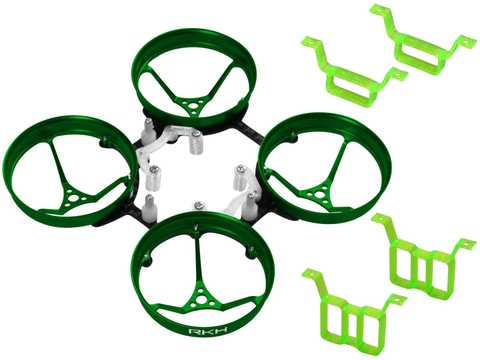 Rakonheli 1S, 2S AL Carbon 66mm Brushless Whoop Kit (for 0603, 0703 Motor) (Green)