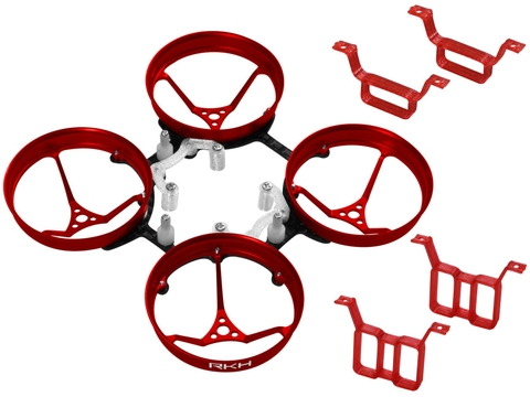 Rakonheli 1S, 2S AL Carbon 66mm Brushless Whoop Kit (for 0603, 0703 Motor) (Red)