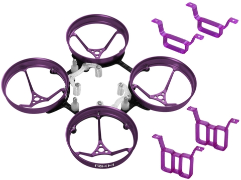 Rakonheli 1S, 2S AL Carbon 66mm Brushless Whoop Kit (for 0603, 0703 Motor) (Purple)