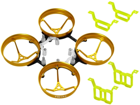 Rakonheli 1S, 2S AL Carbon 66mm Brushless Whoop Kit (for 0603, 0703 Motor) (Gold)