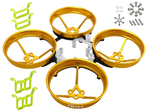 Rakonheli 1S, 2S AL Carbon 76mm Brushless Whoop Kit (for 0603, 0703, 1103 Motor) (Gold)