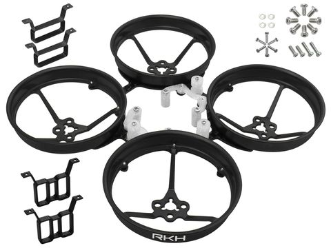Rakonheli 1S, 2S AL Carbon 76mm Brushless Whoop Kit (for 0603, 0703, 1103 Motor) (Black)
