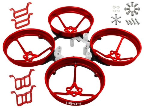 Rakonheli 1S, 2S AL Carbon 76mm Brushless Whoop Kit (for 0603, 0703, 1103 Motor) (Red)