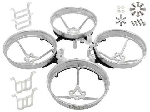 Rakonheli 1S, 2S AL Carbon 76mm Brushless Whoop Kit (for 0603, 0703, 1103 Motor) (Silver)