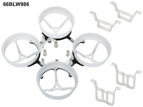 Rakonheli 1S, 2S Delrin Carbon 66mm Brushless Whoop Kit (for 0603, 0703 Motor)