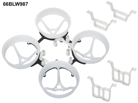 Rakonheli 1S, 2S Delrin Carbon 66mm Brushless Whoop Kit (for SunnySky 0703, 0705 Motor)