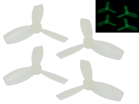 Rakonheli 2222 3 Blade Transparent Propeller (2CW+2CCW; 1.5mm Shaft) (Glow)