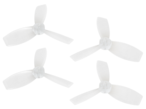 Rakonheli 2222 3 Blade Transparent Propeller (2CW+2CCW; 1.5mm Shaft) (White)