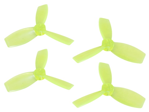 Rakonheli 2222 3 Blade Transparent Propeller (2CW+2CCW; 1.5mm Shaft) (Yellow)