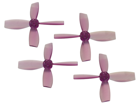 Rakonheli 2222 4 Blade Transparent Propeller (2CW+2CCW; 1.5mm Shaft) (Purple)