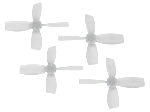 Rakonheli 2222 4 Blade Transparent Propeller (2CW+2CCW; 1.5mm Shaft) (White)