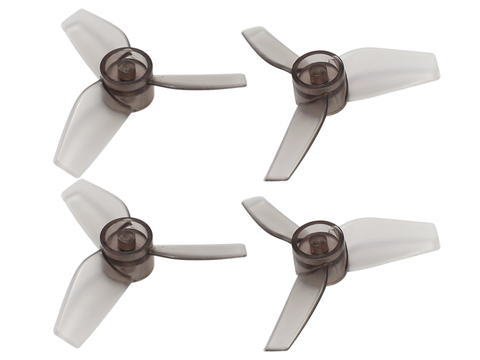 Rakonheli 40mm 3 Blade Transparent Propeller (2CW+2CCW; 1.0mm Shaft) (Black)