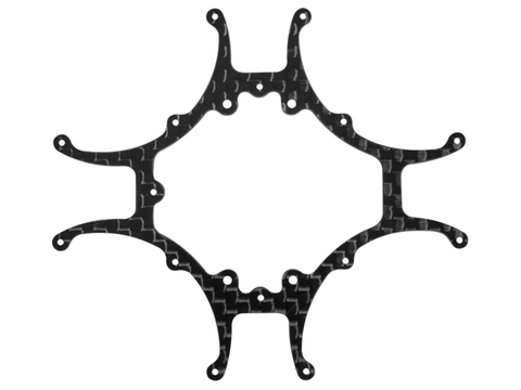 Rakonheli CNC 3K Pure Carbon Fiber Main Frame (1.0mm) (for 76BLW981)
