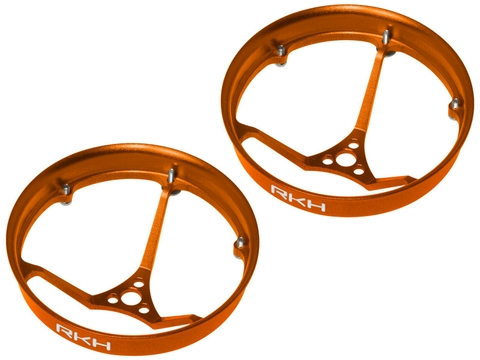 Rakonheli CNC AL 31mm Propeller Duct (2) (for 0603, 0703 Motor) (Orange)