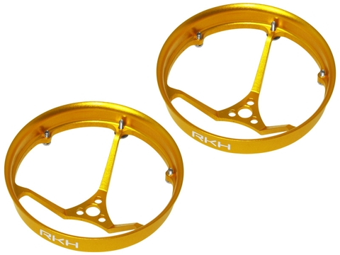 Rakonheli CNC AL 31mm Propeller Duct (2) (for 0603, 0703 Motor) (Gold)