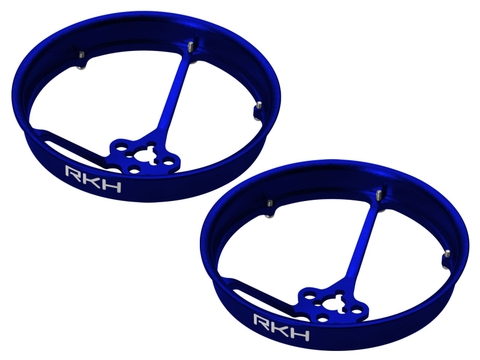 Rakonheli CNC AL 40mm Propeller Duct (2) (for 0603, 0703, 1103 Motor) (Blue)