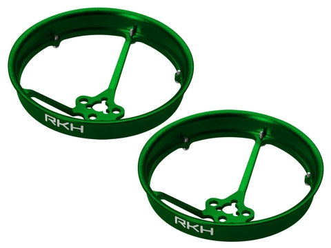Rakonheli CNC AL 40mm Propeller Duct (2) (for 0603, 0703, 1103 Motor) (Green)