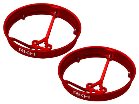 Rakonheli CNC AL 40mm Propeller Duct (2) (for 0603, 0703, 1103 Motor) (Red)