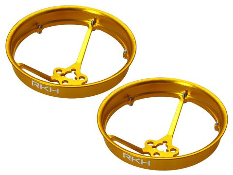 Rakonheli CNC AL 40mm Propeller Duct (2) (for 0603, 0703, 1103 Motor) (Gold)
