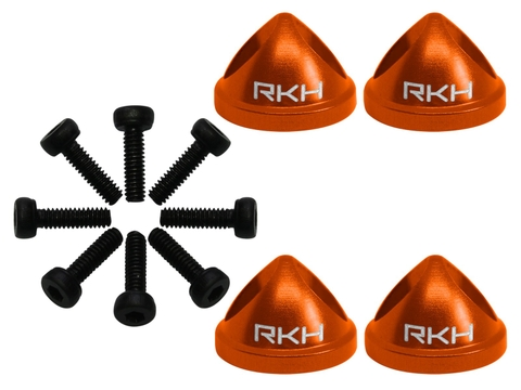 Rakonheli CNC Aluminum Propeller Adapter Set (Orange) - EMAX Babyhawk R