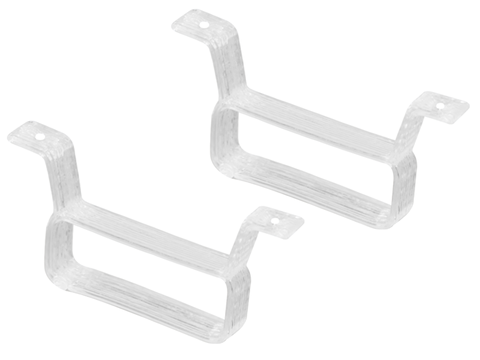 Rakonheli TPU 17x6.5mm Battery Mount (2) (White)